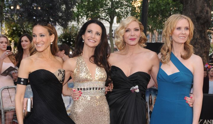 Sarah Jessica Parker, Kristen Davis, Kim Cattrall et Cynthia Nixon à la première du film «Sex and the City 2», en 2010.
