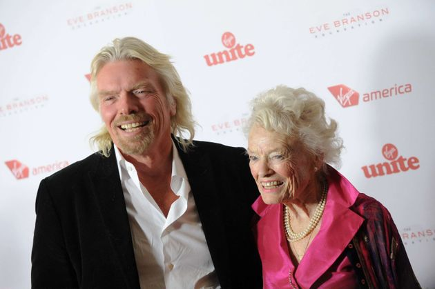 Sir Richard Branson's mother Eve has died aged