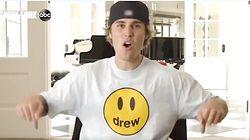 Justin Bieber Flexes Abs, Shoots Basketball To Hawk Chair On 'Shark