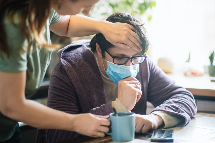 If your partner gets sick with COVID, don't assume you will automatically get infected or hope that you will so you will get it over with. With proper social distancing and sanitization, you can stay healthy.