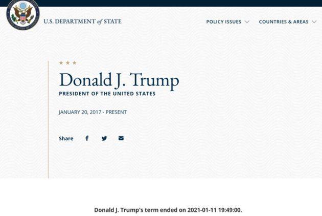 Captura del 'hackeo' al perfil de Donald