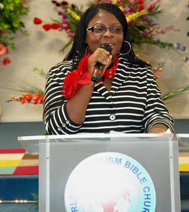 Sheila Daniel addressing the congregation at WEBIC – a church she began attending in 2008, one...