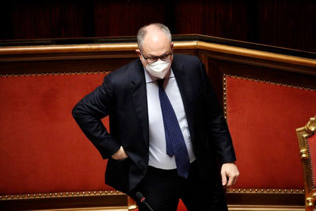 Minister of Economy and Finance Roberto Gualtieri during the session at Senate for Communications in...