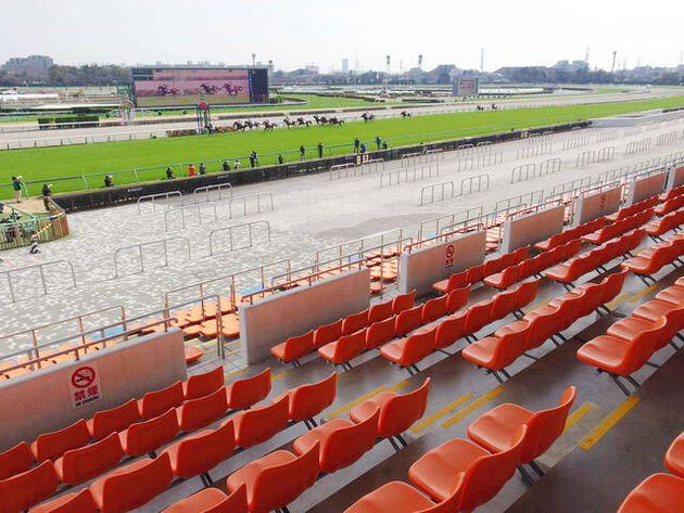 日本中央競馬会の中山競馬場では無観客でレースが行われた