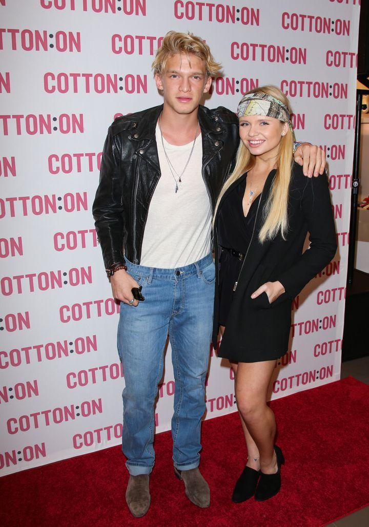 Cody Simpson and Alli Simpson pictured in Santa Monica in 2014.