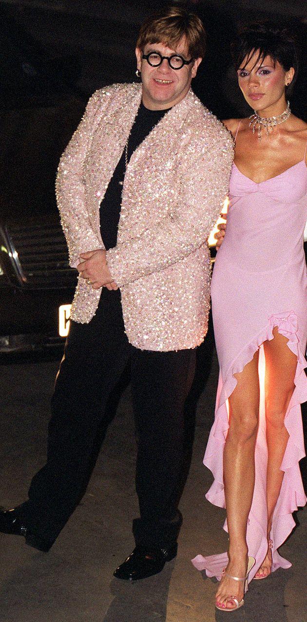 Victoria Beckham and Elton John pictured