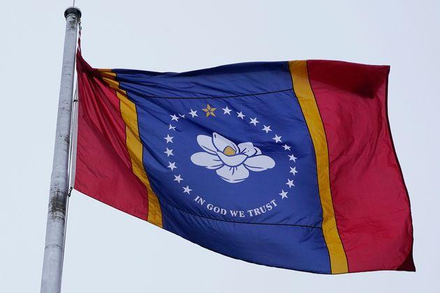 Le nouveau drapeu du Mississippi le 11 janvier 2020 (AP Photo/Rogelio V.