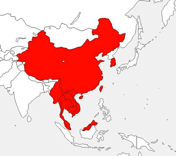 赤色がビジネス往来できる11の国と地域(1月12日現在)