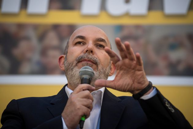ROME, ITALY - FEBRUARY 15: New leader of 5-Star Movement Vito Crimi delivers his speech during a national...