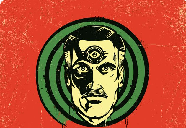 Classic sci fi symbol of spying and oppression, big brother