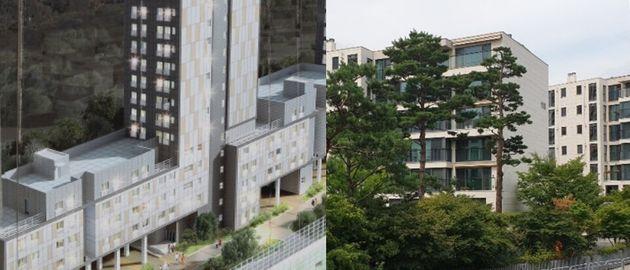 서울의 한 행복주택 조감도(좌),