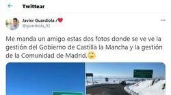 Un diputado del PSOE denuncia con dos fotos la gestión del temporal que está haciendo