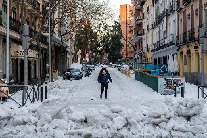 Una imagen de este lunes en Madrid.