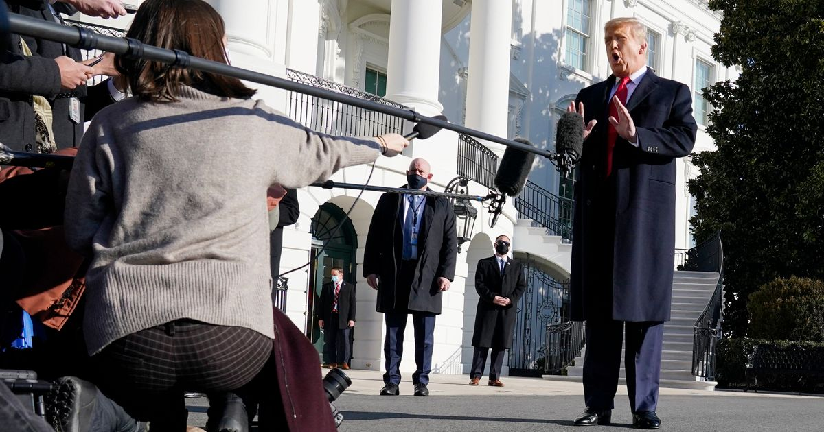 In First Public Appearance Since Insurrection, Trump Shirks All Responsibility