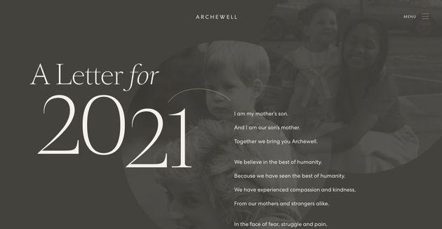 Imagen de la página de inicio de la Fundación