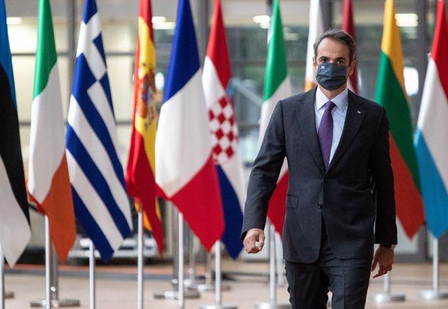 Έκτακτη σύνοδος κορυφής Αρχηγών κρατών και Κυβερνήσεων της Ευρωπαϊκής Ένωσης, Παρασκευή 2 Οκτωβρίου 2020. (EUROKINISSI / POOL PHOTO EUROPEAN UNION )