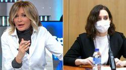 Susanna Griso estalla así contra el Gobierno de Díaz Ayuso y le dedica unas duras