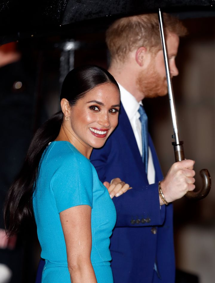 We're willing to bet that Meghan is the only Sussex sporting a ponytail!