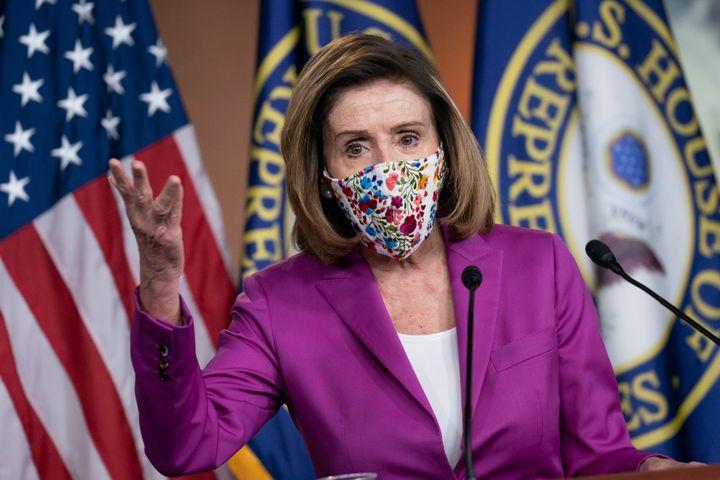 House Speaker Nancy Pelosi (D-Calif.) speaks at a news conference, Thursday, Jan. 7, 2021.