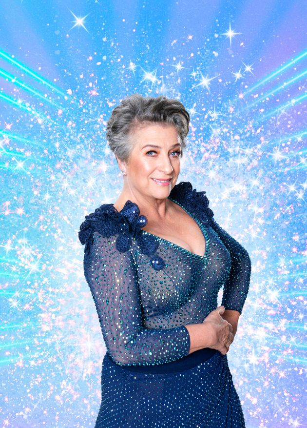 Caroline Quentin in her Strictly promo