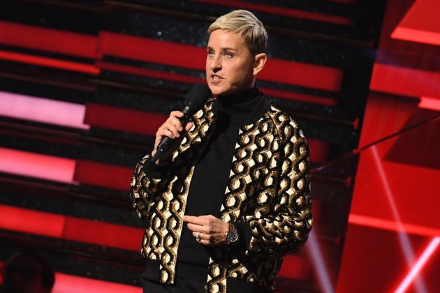 Ellen Degeneres on stage at last year's