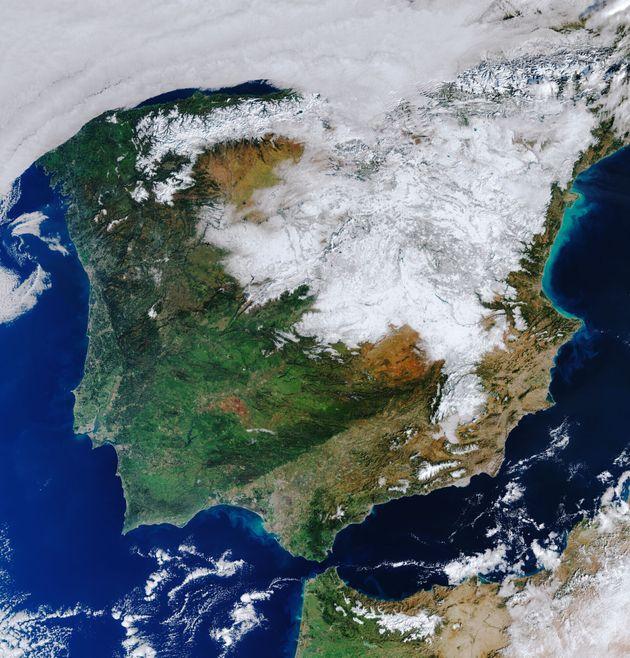 Imagen de España captado por el satétile Copernicus