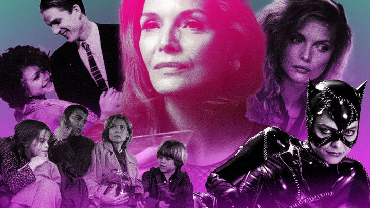 """Michelle Pfeiffer, seen here in """"Married to the Mob,"""" """"One Fine Day,"""" """"French Exit,"""" """"The Witches of Eastwick"""" and """"Batman Returns."""""""