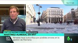 Almeida desvela la llamada que recibió de una política del PSOE en plena