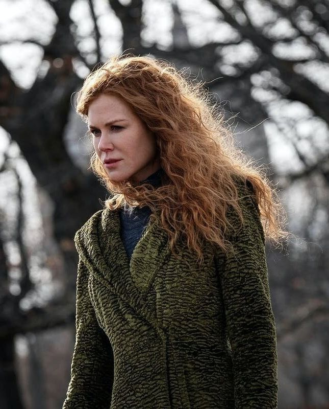 Nicole Kidman and one of her many lovely coats in The Undoing