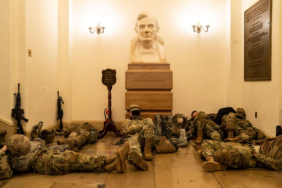 Striking Photos Show Hundreds Of National Guard Troops Sleeping Inside U.S.