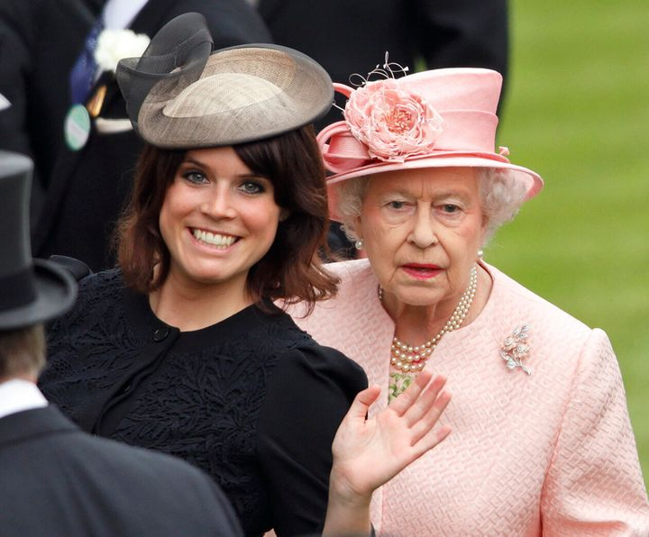 Princess Eugenie of York and Queen Elizabeth II at the Royal Ascot on June 18, 2013.