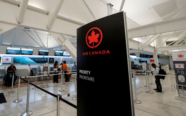 The Air Canada hall at Benito Juarez International Airport, Mexico City, May 20, 2020. Air Canada...