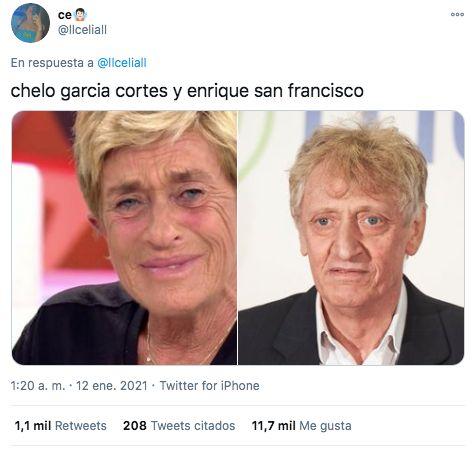 Hilo de personas que parecen la misma