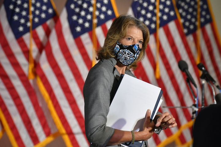 Senator Lisa Murkowski is one of a handful of Republicans who support removing Trump.