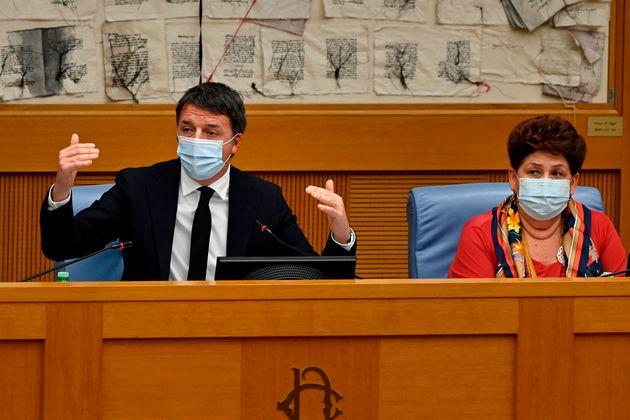 Italian current Senator, former premier and head of the political party 'Italia Viva' (IV), Matteo Renzi...