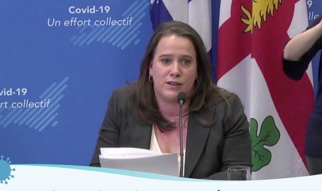 Mylène Drouin,directrice de la santé publique de