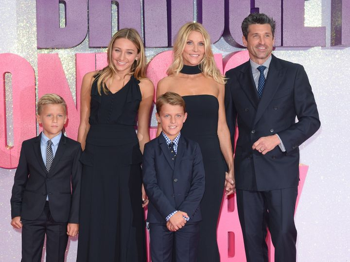 "Patrick Dempsey and his family arrive for the world premiere of ""Bridget Jones's Baby"" on Sept. 5, 2016, in London."