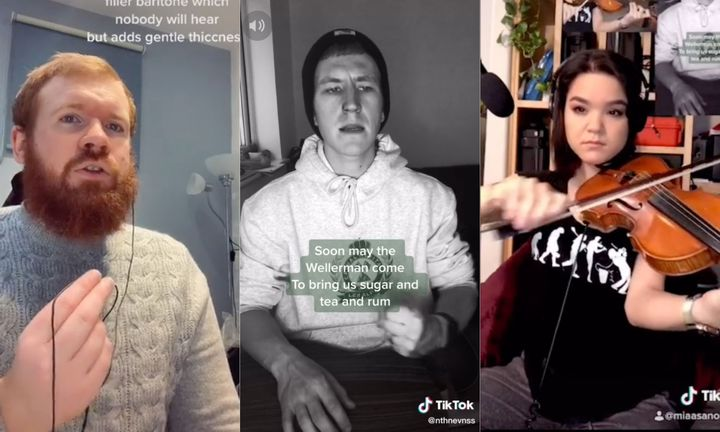 Singing sea shanties collectively has become popular on TikTok.