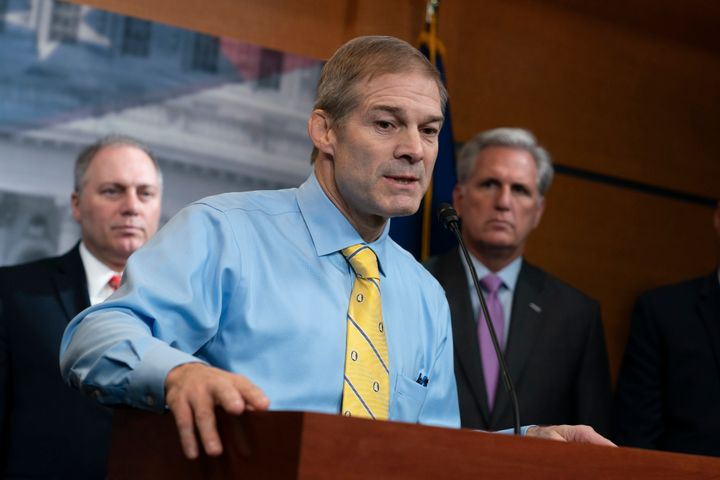 Rep. Jim Jordan (R-Ohio) led Republican arguments Wednesday against Trump's second impeachment in the House. The article of i