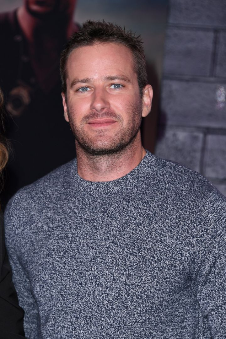 "Armie Hammer at the premiere of  ""Bad Boys For Life"" on January 14, 2020 in Hollywood, California."
