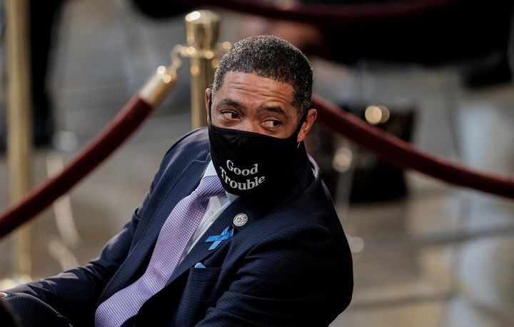 Rep. Cedric Richmond (D-LA) attends the ceremony for Rep. John Lewis (D-GA) at the U.S. Capitol Rotunda in Washington, D.C.,