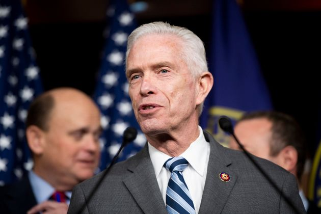 Rep. Bill Johnson, R-Ohio, speaks during a press conference in the Capitol on Feb. 11, 2020. (Bill Clark/CQ-Roll...