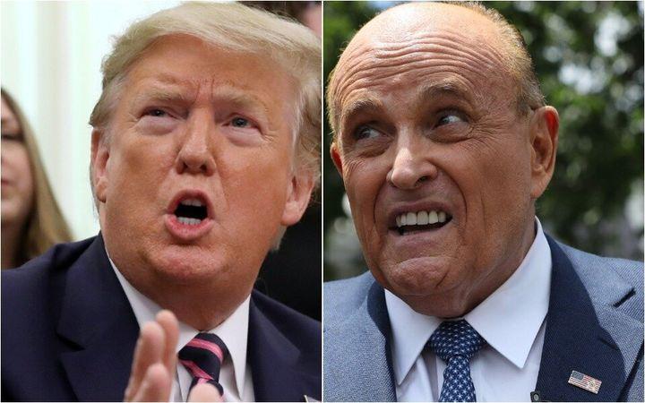 Donald Trump et Rudy Giuliani