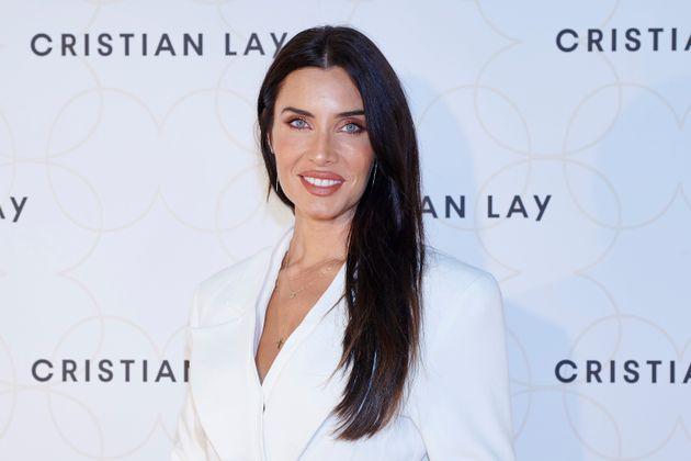 Pilar Rubio durante una presentación de Cristian Lay en Carranque.