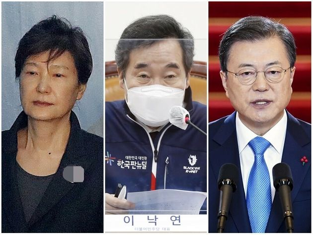 박근혜 전 대통령, 이낙연 더불어민주당 대표, 문재인