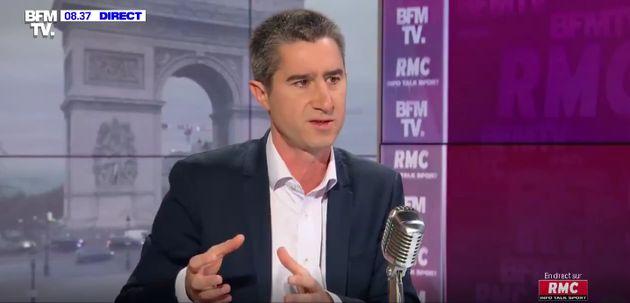 Le député insoumis François Ruffin sur le plateau de BFMTV ce jeudi 14