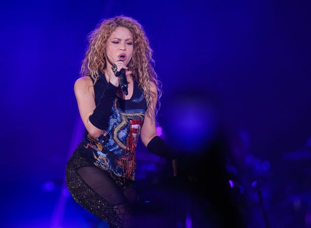 Shakira during a concert in Istanbul (Turkey) in