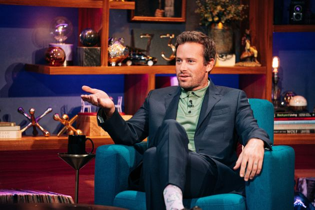 Armie Hammer, au mois d'octobre 2020, sur le plateau de l'émission de James