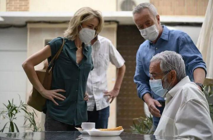 Silvia Abascal, Carlos Hipólito y Antonio Alcántara en 'Cuéntame'.