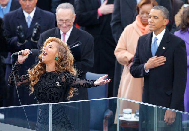 Le 21 janvier 2013, c'est Beyonce qui a chanté l'hymne américain pour la cérémonie...